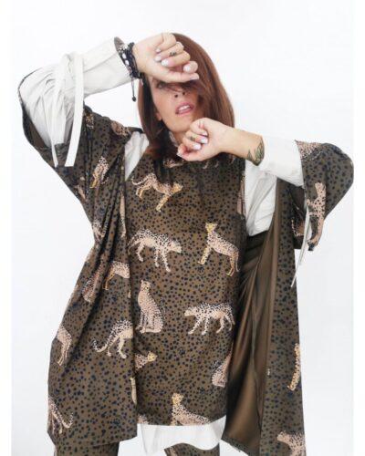 Kimono leopardos