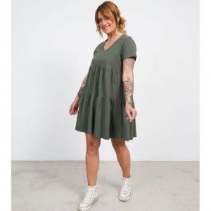 Vestido básico keep verde